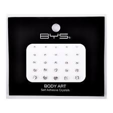 BYS Body Art Self Adhesive Crystals Clear Medium