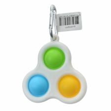 Pop Fidget Toy Keyring green yellow blue