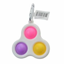 Pop Fidget Toy Keyring pink purple yellow