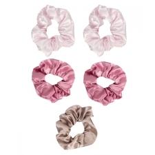 The Vintage Cosmetic Company juuksekummid Satin Pink 5tk