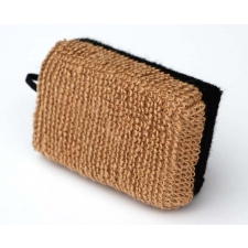 Basicare Bamboo Bath Sponge w/Detachable Handle