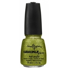 China Glaze Nail Polish Jade-d  Crackle Glitters