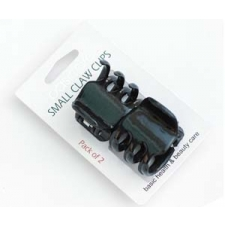 Basicare Small Metallic Claw,black 4cm, 2pc